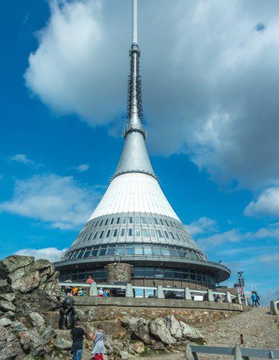Fernsehturm auf dem Berg Jeschken